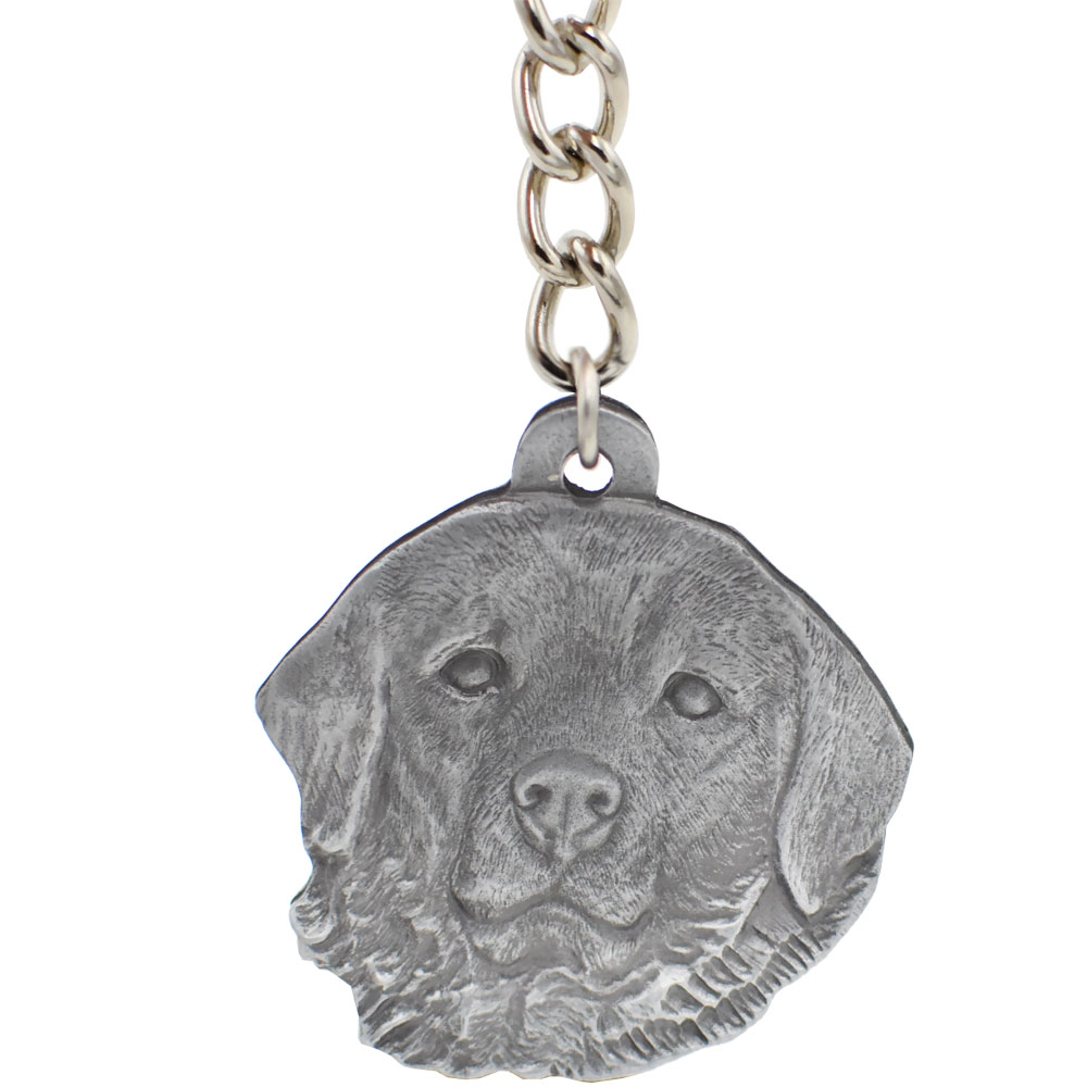 Dog Breed Keychain USA Pewter - Great Pyrenees (2.5