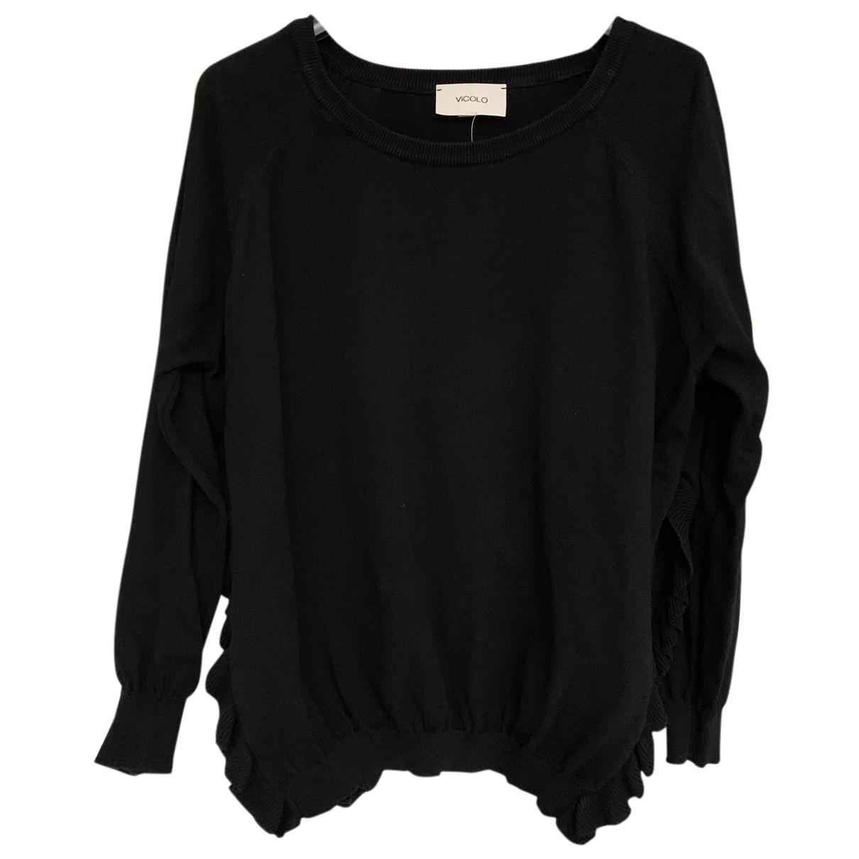 Vicolo - Pull   pour femme en coton - noir