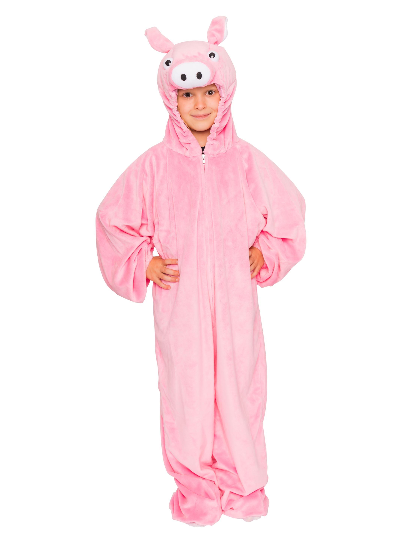 Overall Pluesch Schwein Kinder pink 14/164