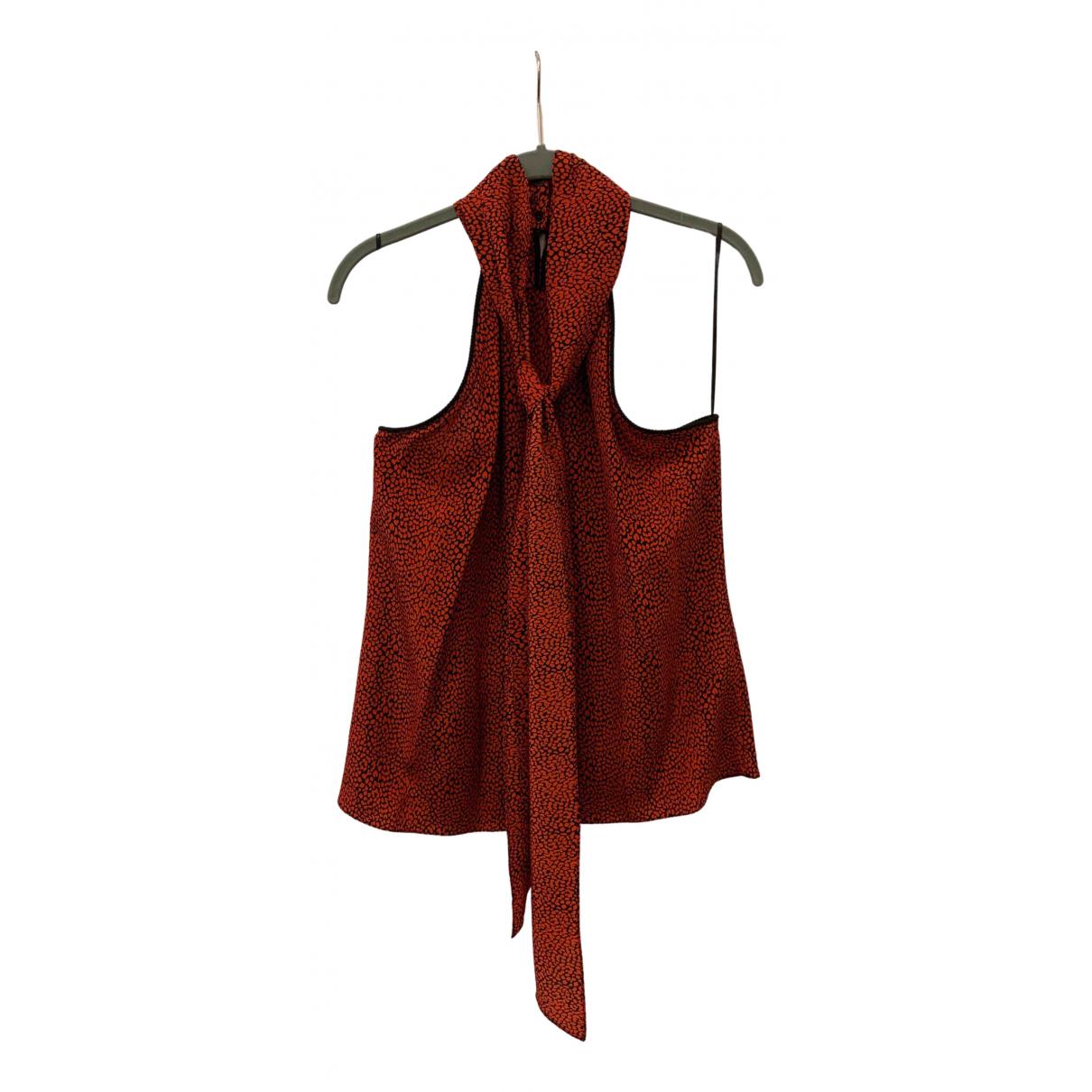 Philosophy Di Lorenzo Serafini - Top   pour femme en soie - rouge