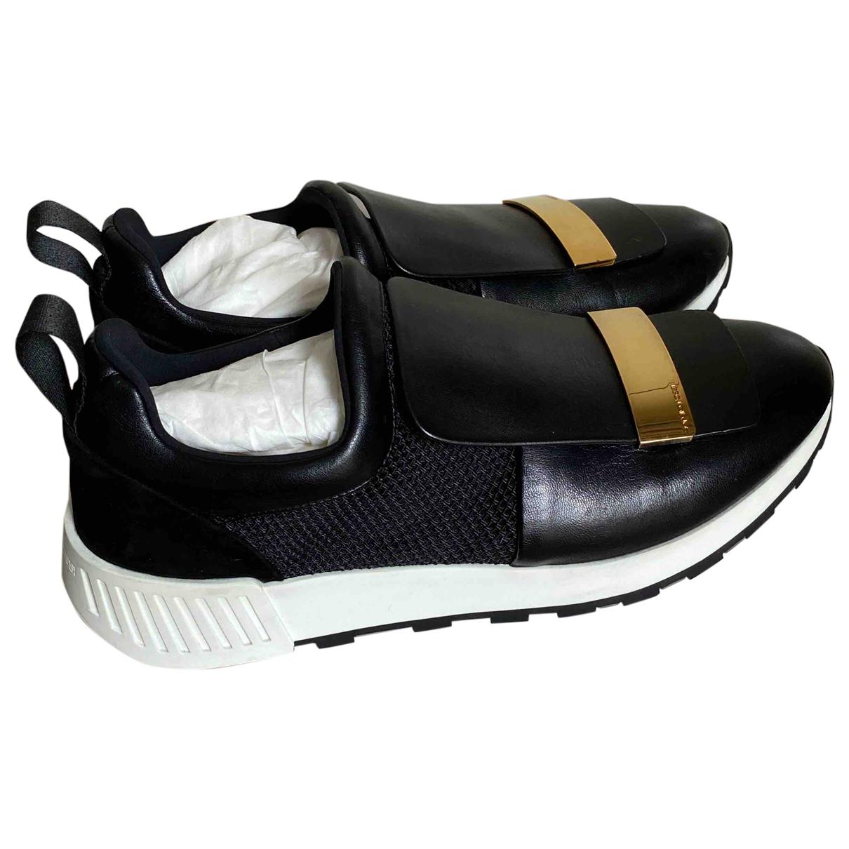 Sergio Rossi \N Sneakers in  Schwarz Leder