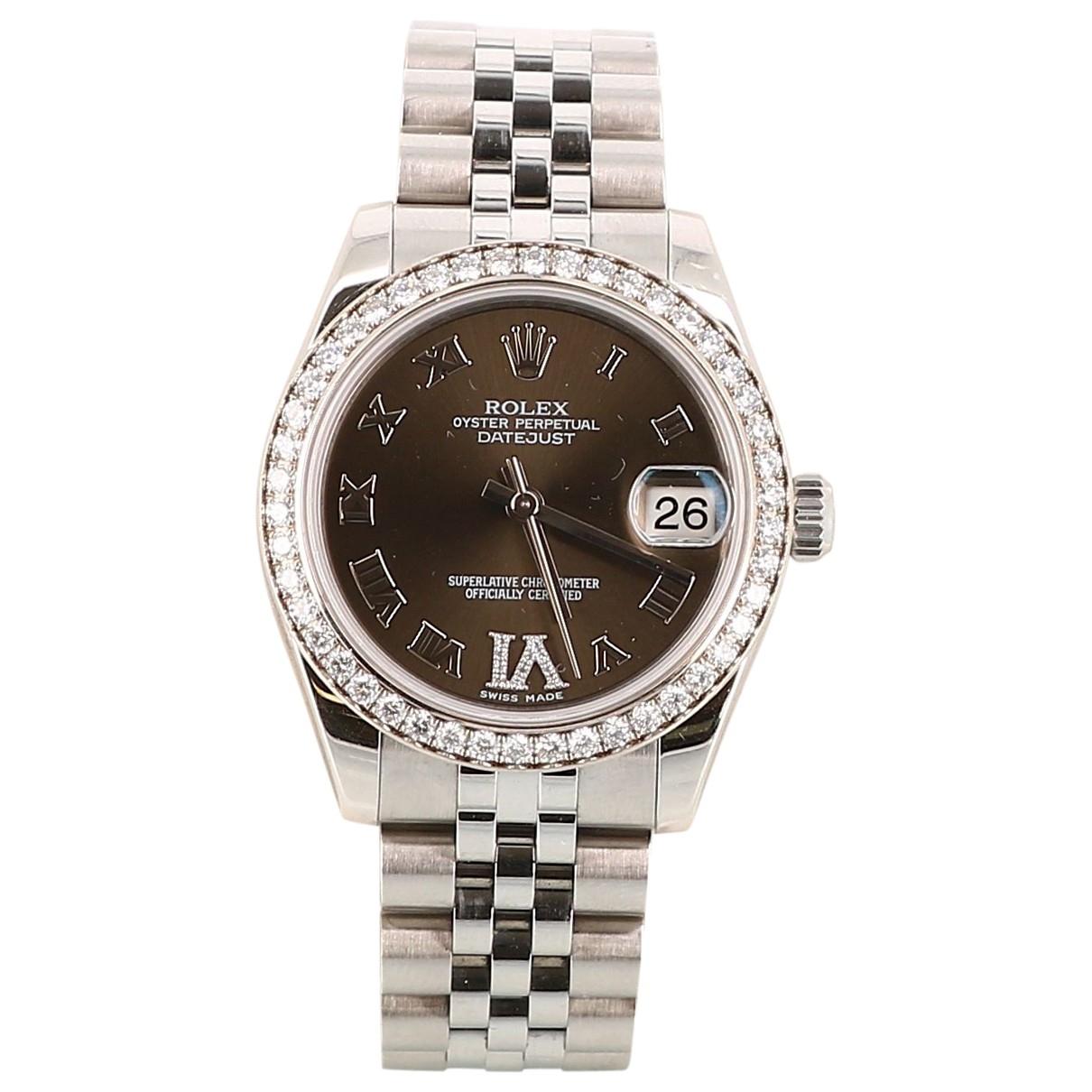 Rolex - Montre Datejust 31mm pour femme en acier - multicolore