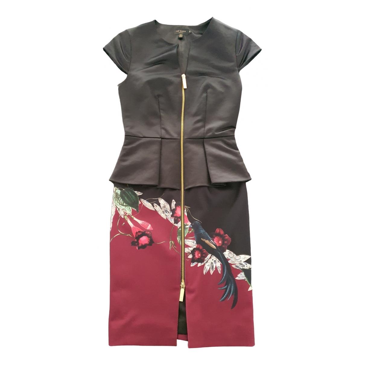 Ted Baker \N Kleid in  Schwarz Baumwolle