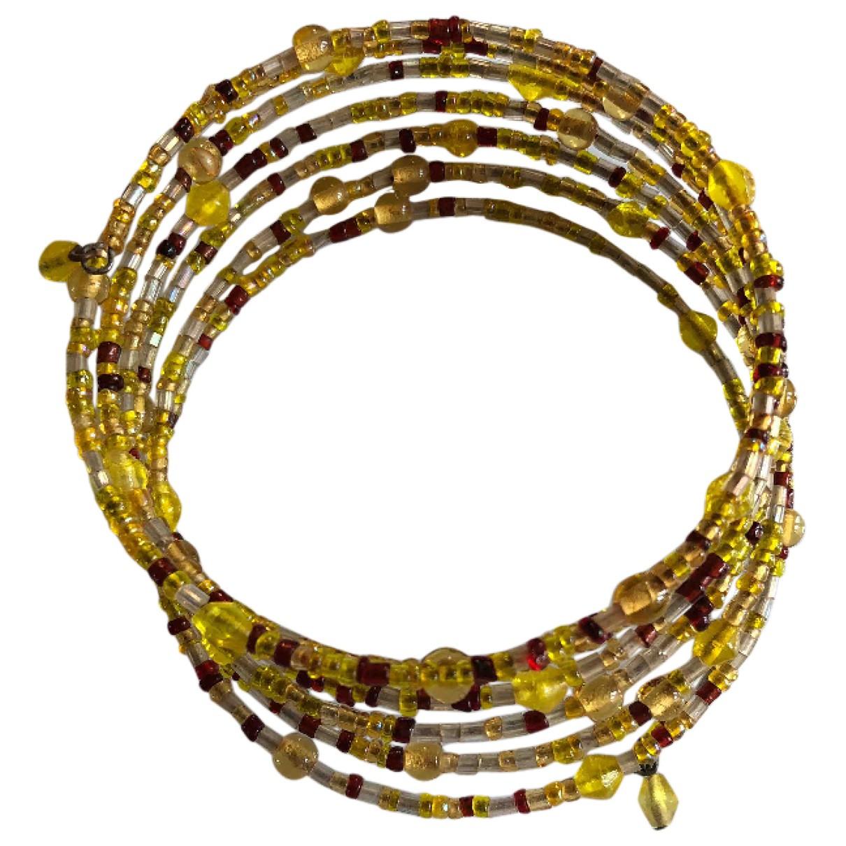 - Bracelet   pour femme en verre - jaune