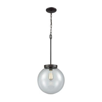 Cn129041 Beckett 1 Light Pendant In Oil Rubbed Bronze With Clear