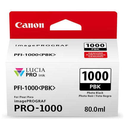 Canon PFI-1000PBK Original Photo Black Ink Cartridge (0546C002)