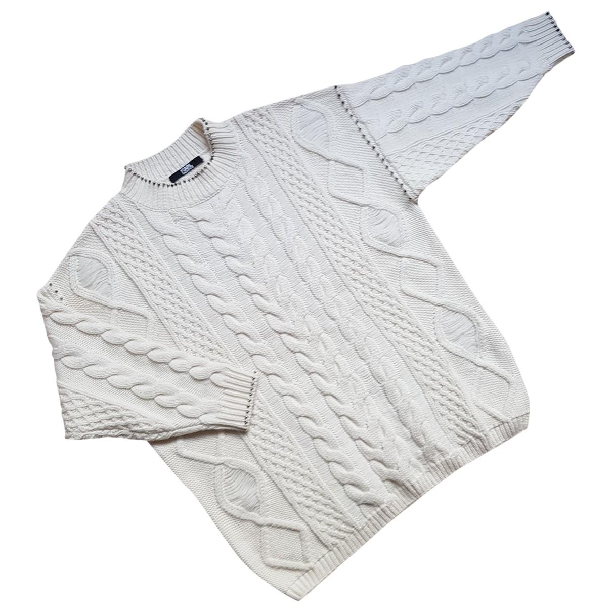 Karl Lagerfeld \N Ecru Wool Knitwear for Women L International