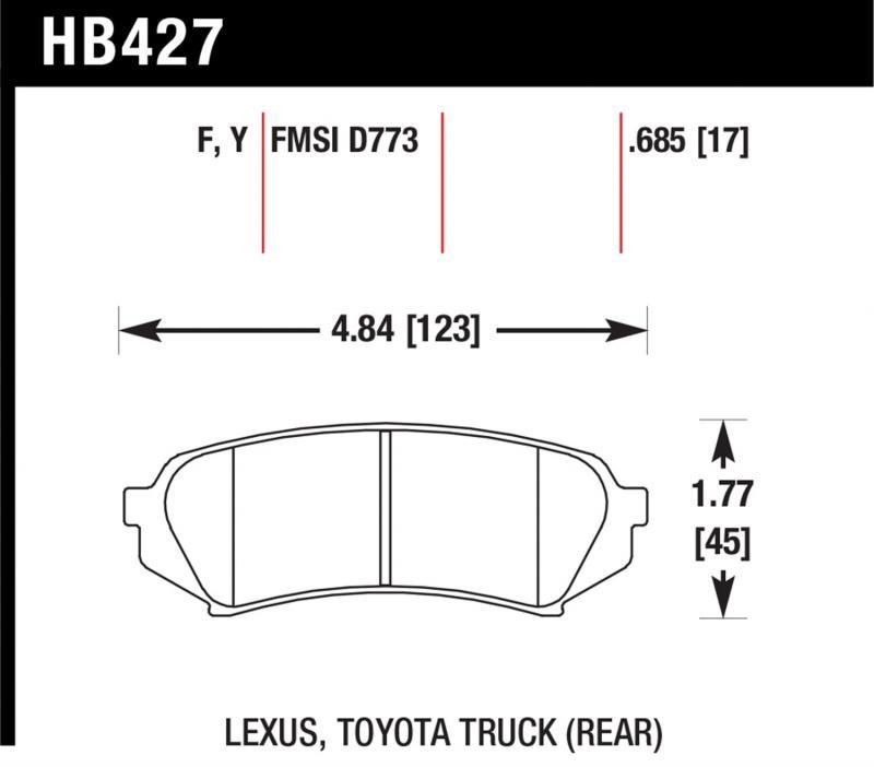 Hawk Performance HB427F.685 Disc Brake Pad Rear