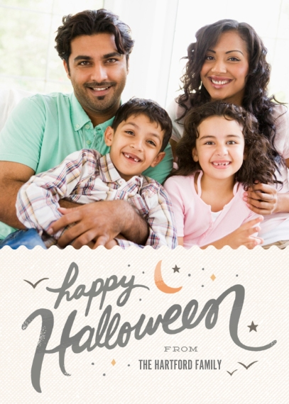 Halloween Photo Cards 5x7 Cards, Premium Cardstock 120lb with Rounded Corners, Card & Stationery -Halloween Hello