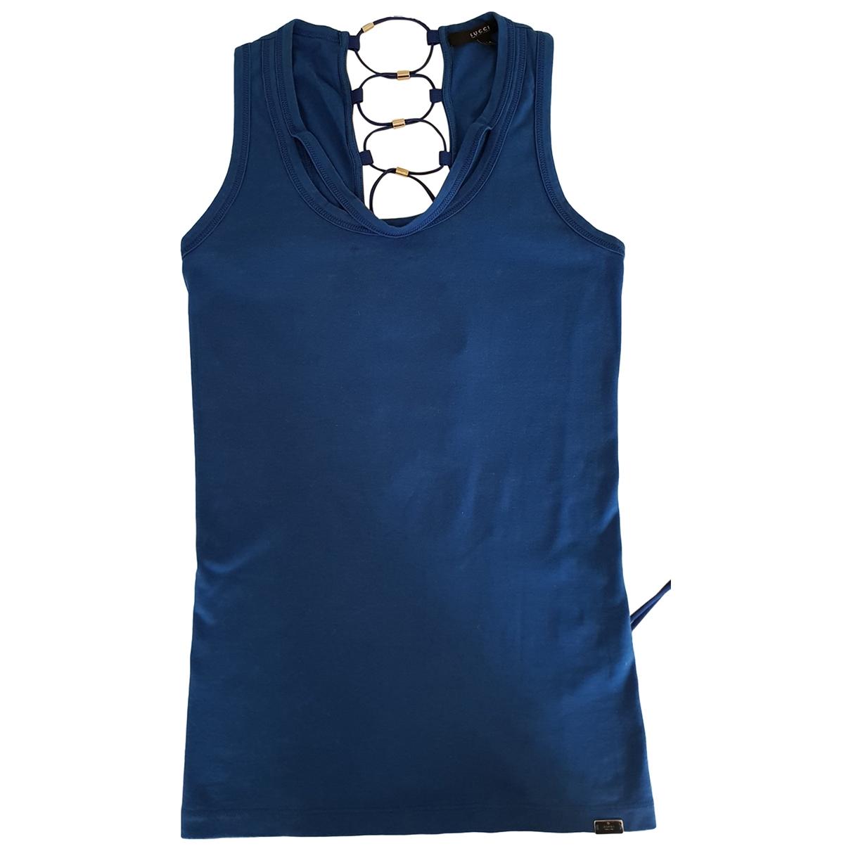 Gucci \N Top in  Blau Baumwolle