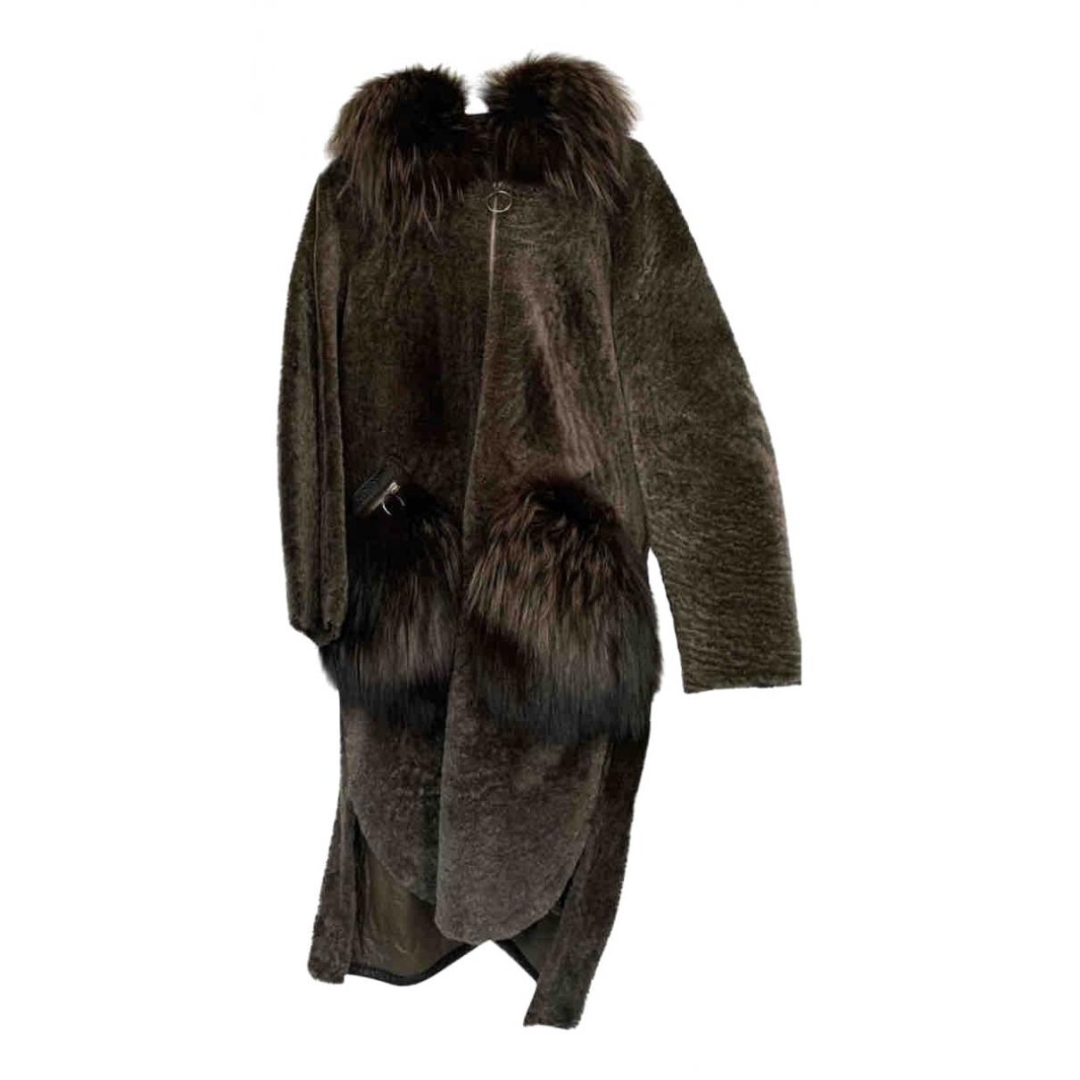 - Manteau   pour femme en mouton - vert