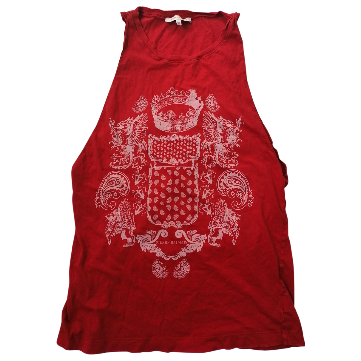 Balmain N Red Cotton  top for Women XS International