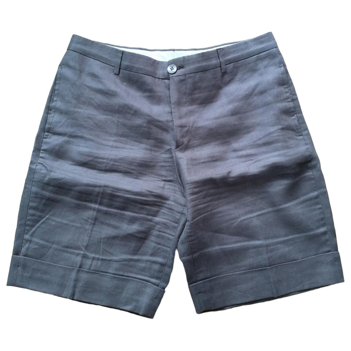 100% Capri \N Brown Linen Trousers for Women 44 IT