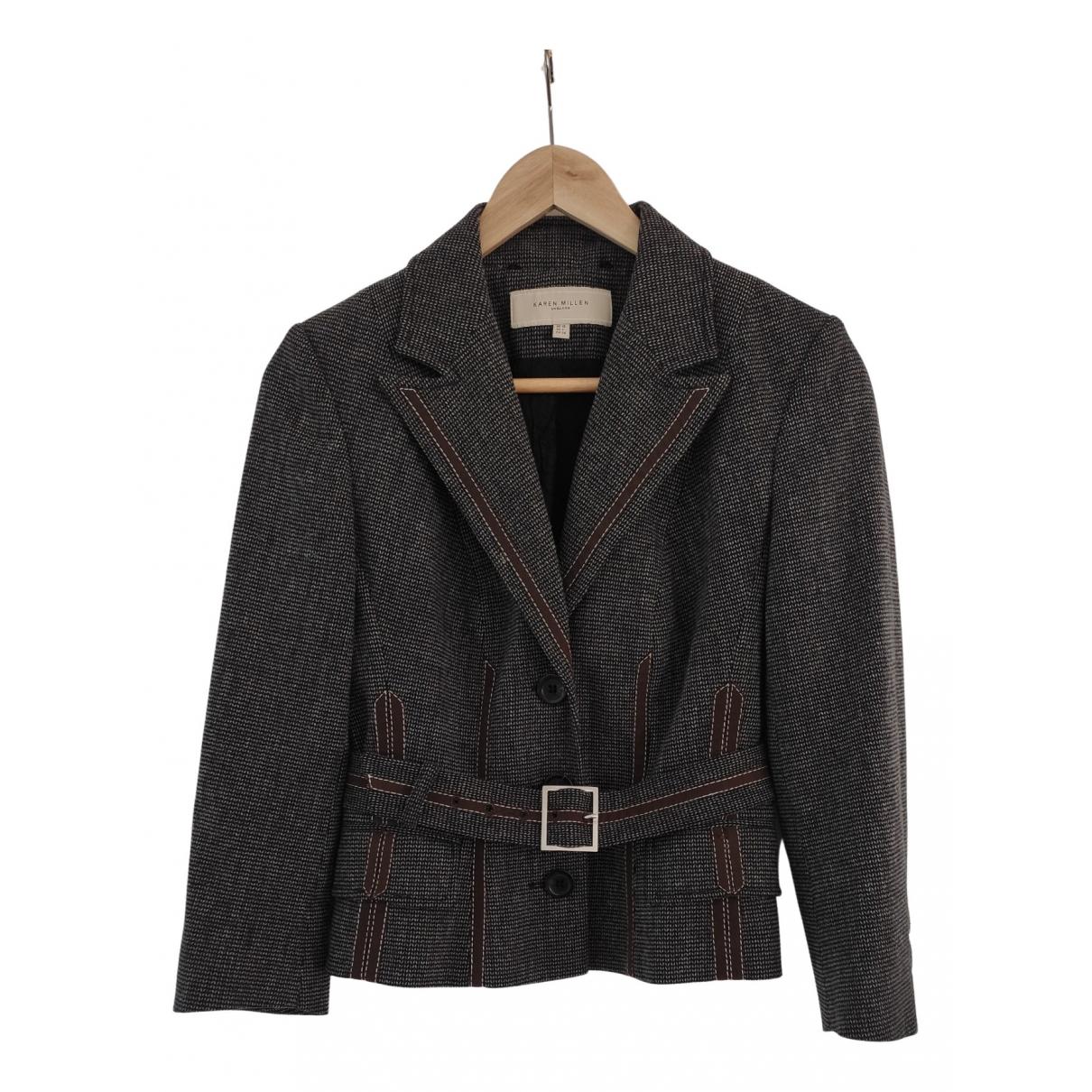 Karen Millen \N Jacke in  Schwarz Tweed