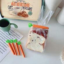 5 Stuecke Karotte formige Lebensmittelversiegelungsclip