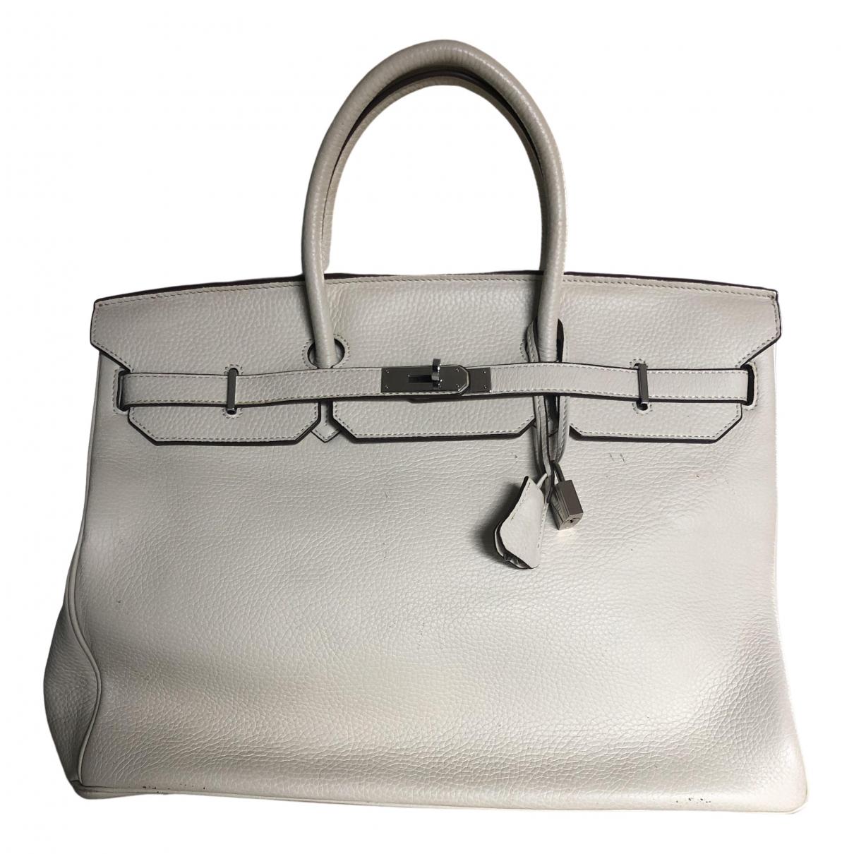 Hermès Birkin 40 White Leather handbag for Women N