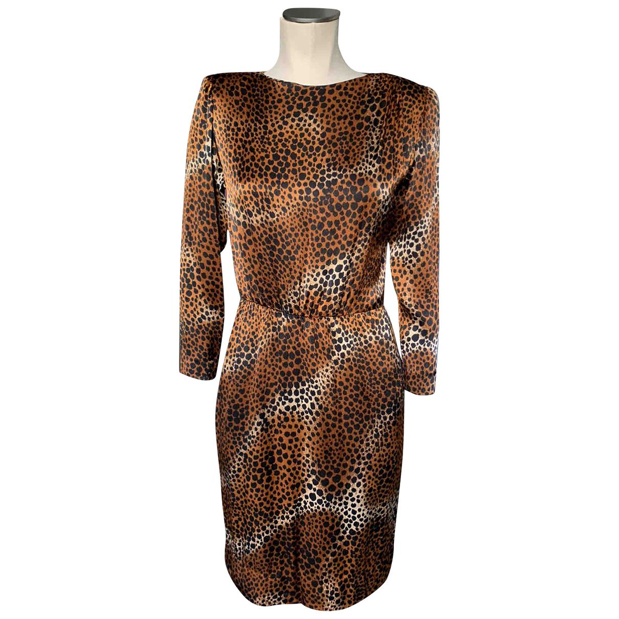 Yves Saint Laurent N Brown Silk dress for Women 38 FR