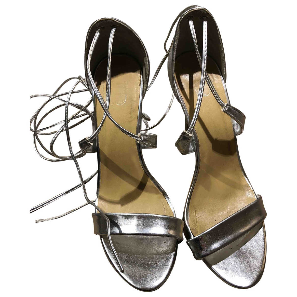 Asos \N Silver Faux fur Heels for Women 36.5 EU