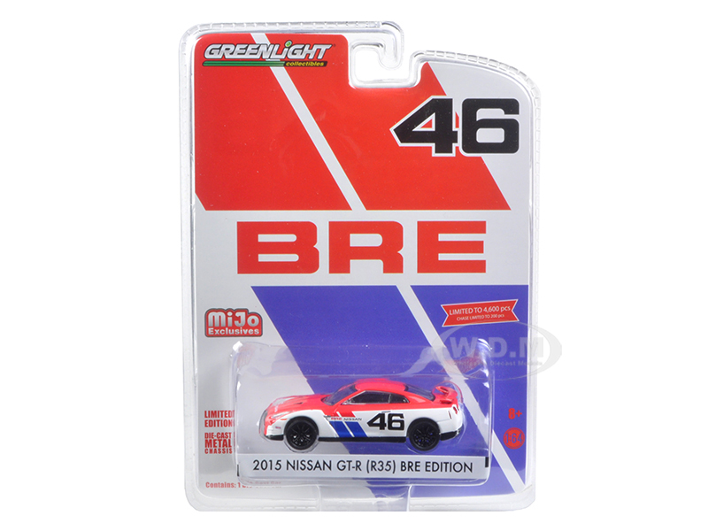 2015 Nissan GT-R R35 46 BRE Edition Limited to 4600pc 1/64 Diecast Model Car by Greenlight