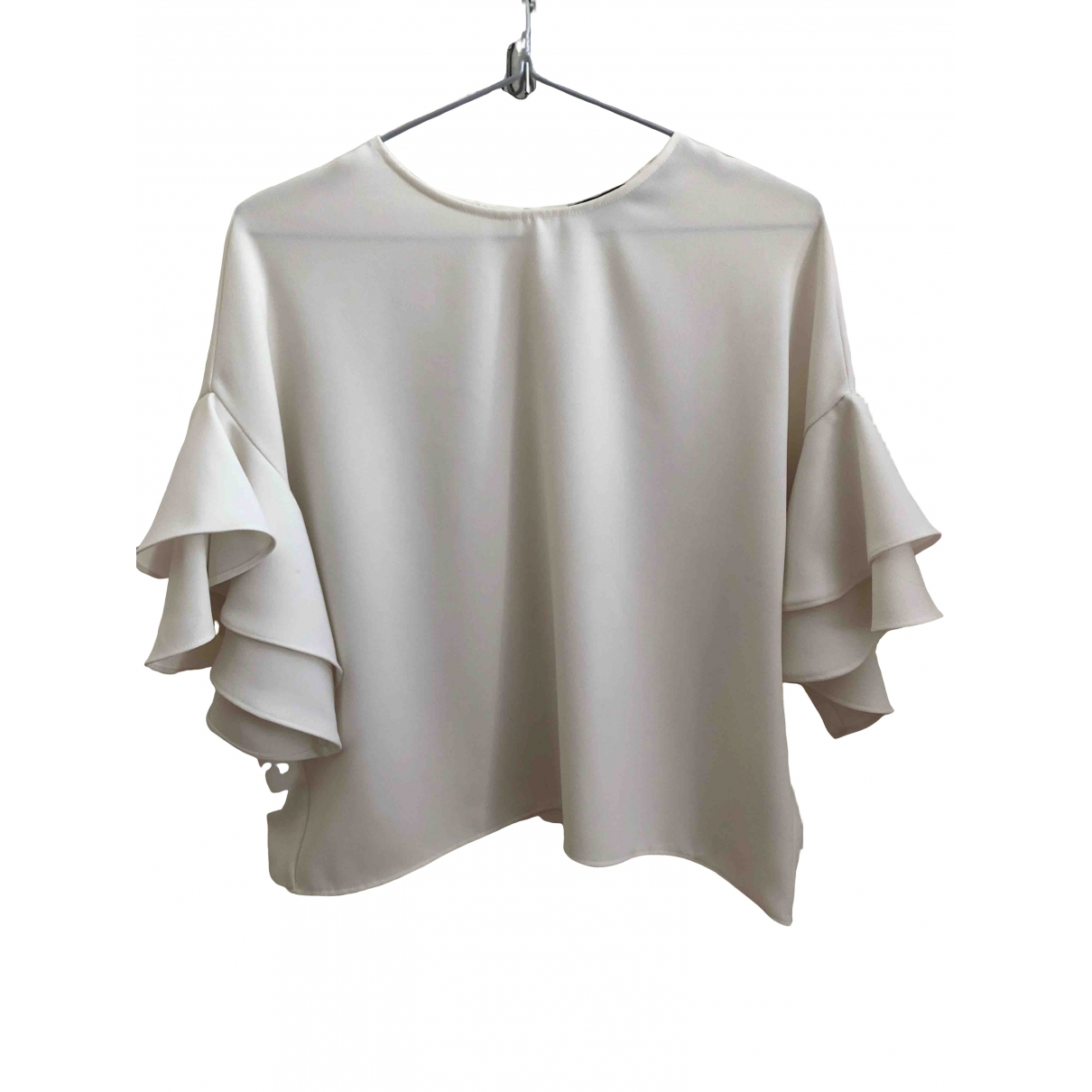 Non Signe / Unsigned Oversize Top in  Weiss Polyester