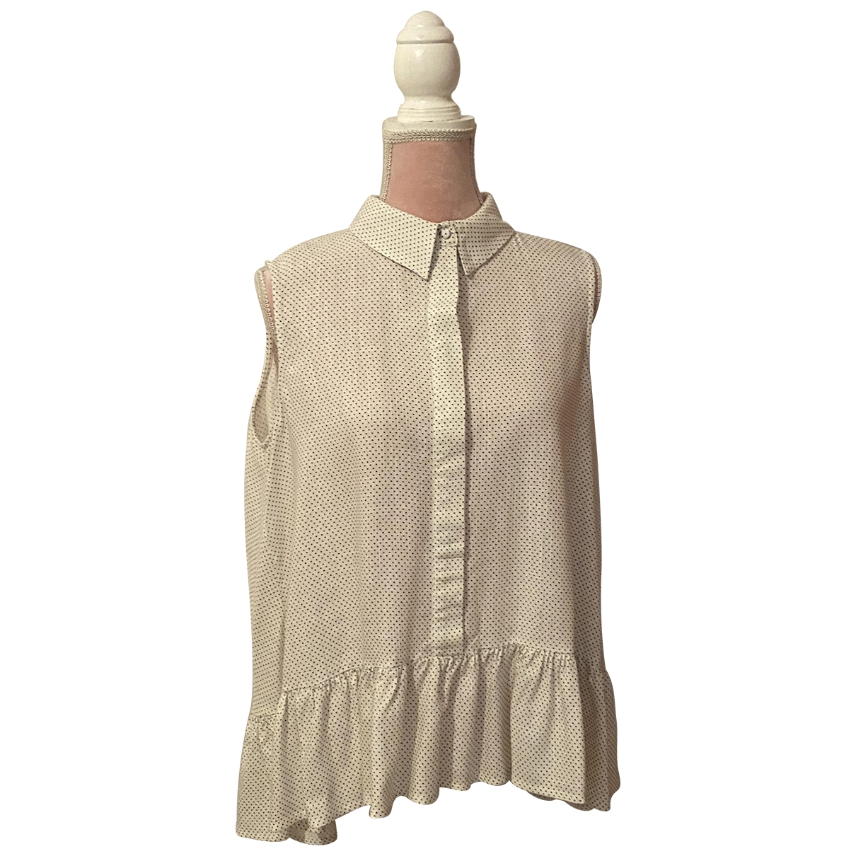 Uterque - Top   pour femme en lin - blanc