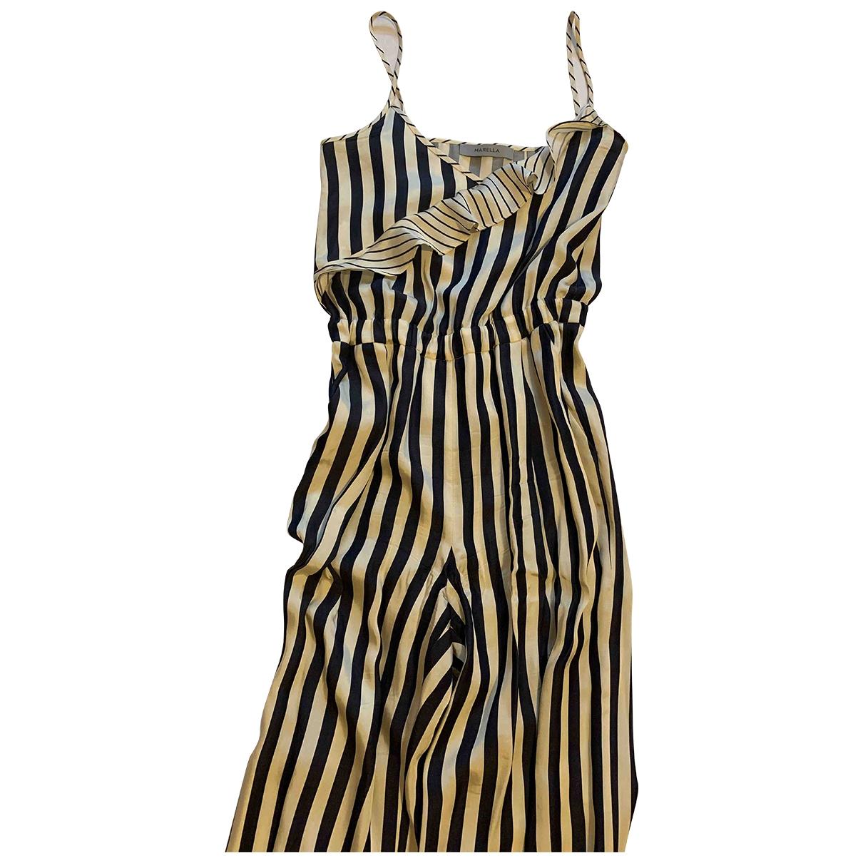 Marella \N Navy Cotton jumpsuit for Women 40 IT