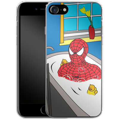 Apple iPhone 8 Silikon Handyhuelle - Bathing Hero von Mark Ashkenazi
