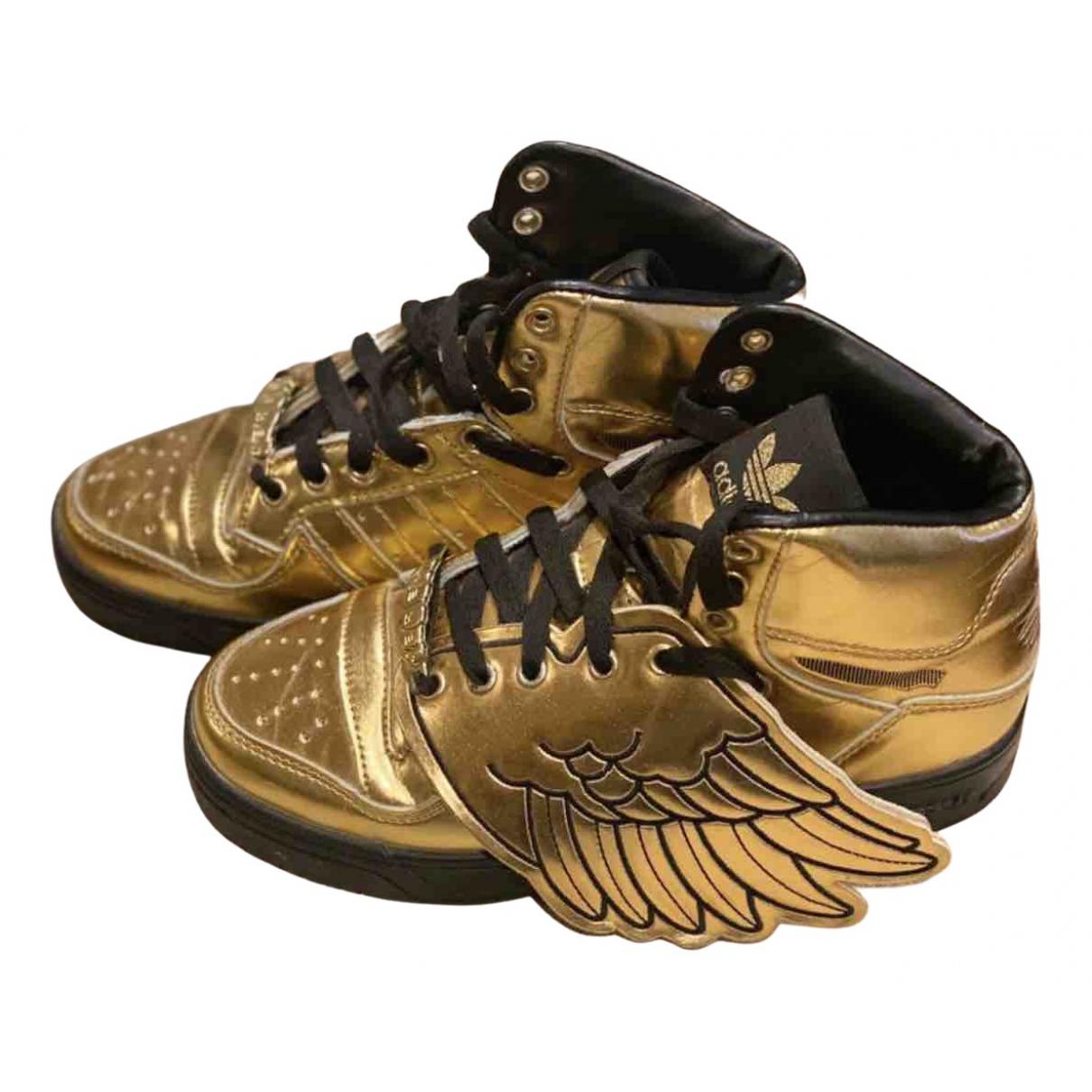 Jeremy Scott Pour Adidas \N Sneakers in  Gold Leder