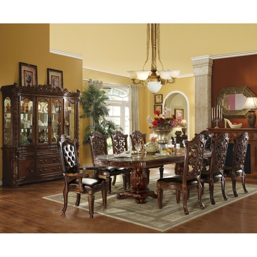 Grand Dining Table with Double Pedestal, Cherry