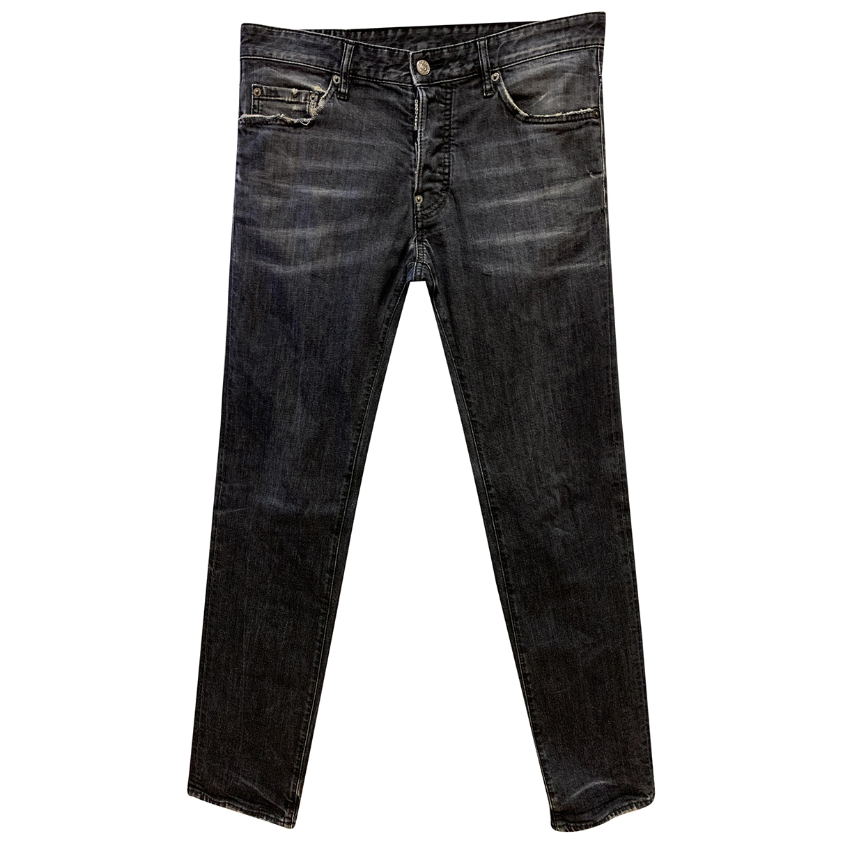 Dsquared2 \N Black Cotton - elasthane Jeans for Men 44 FR