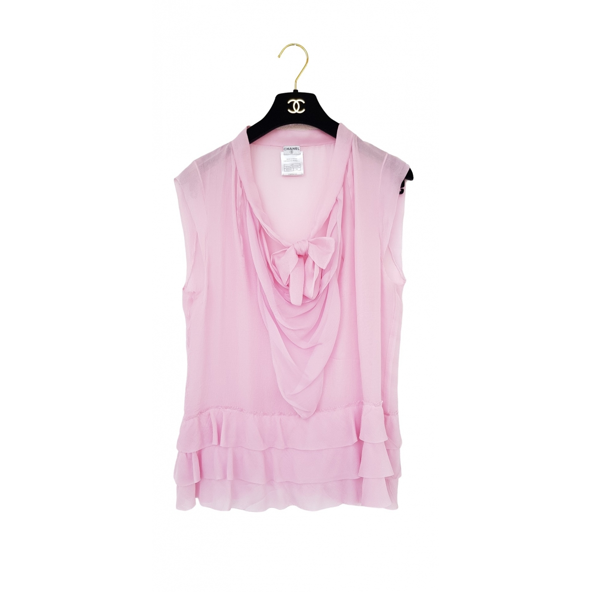 Chanel \N Pink Silk  top for Women 44 FR