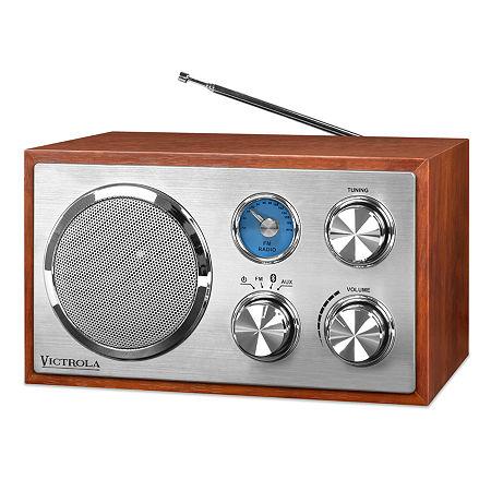 Victrola Wooden Desktop Bluetooth Radio, One Size , Brown