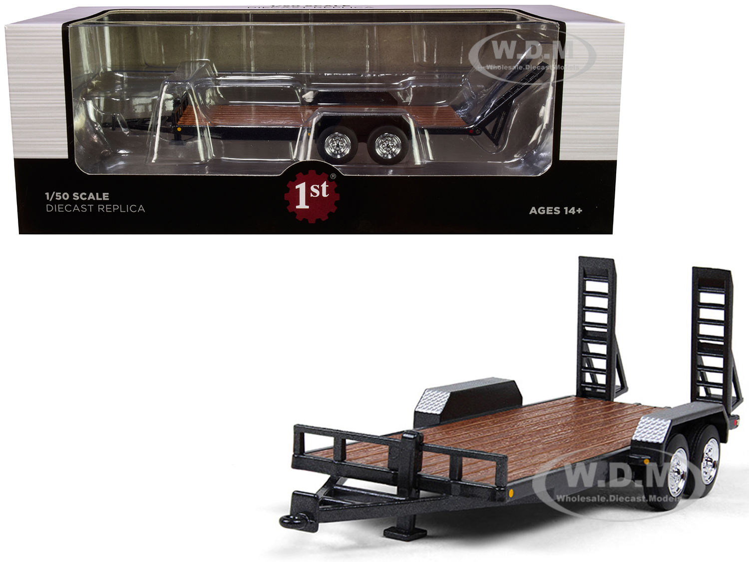 Tandem-Axle Tag Trailer Magnetic Gray 1/50 Diecast Model by First Gear