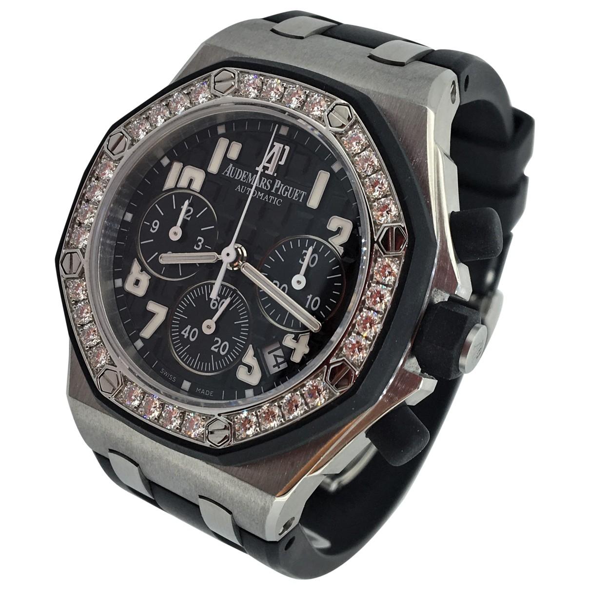 Audemars Piguet Royal Oak Offshore Uhr in  Schwarz Stahl