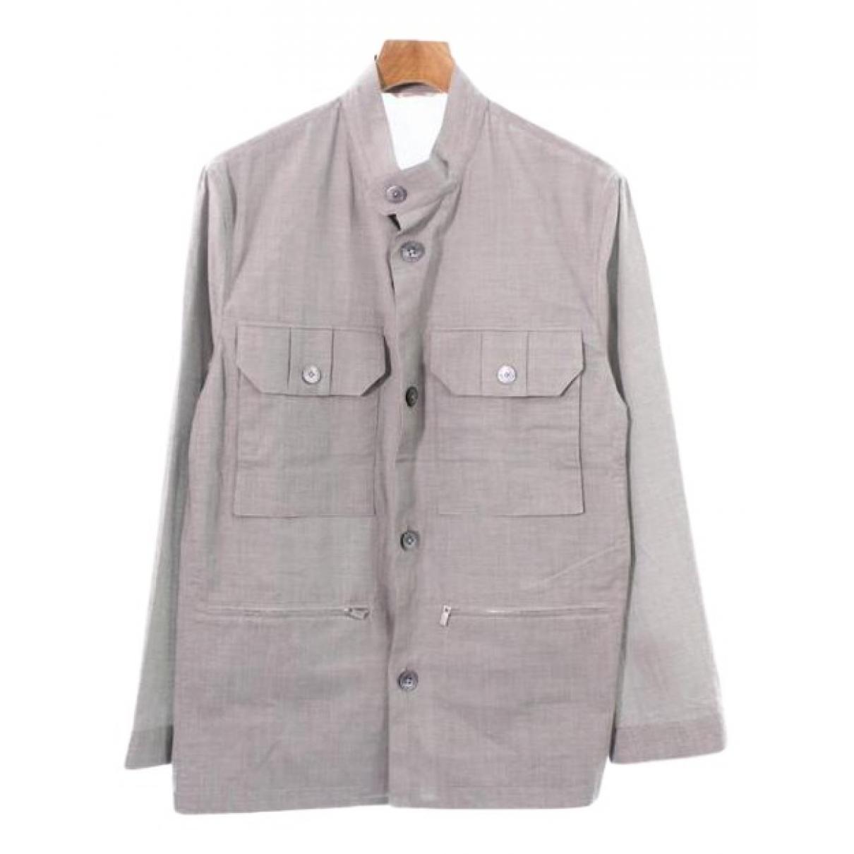 Hermes - Vestes.Blousons   pour homme en coton - gris