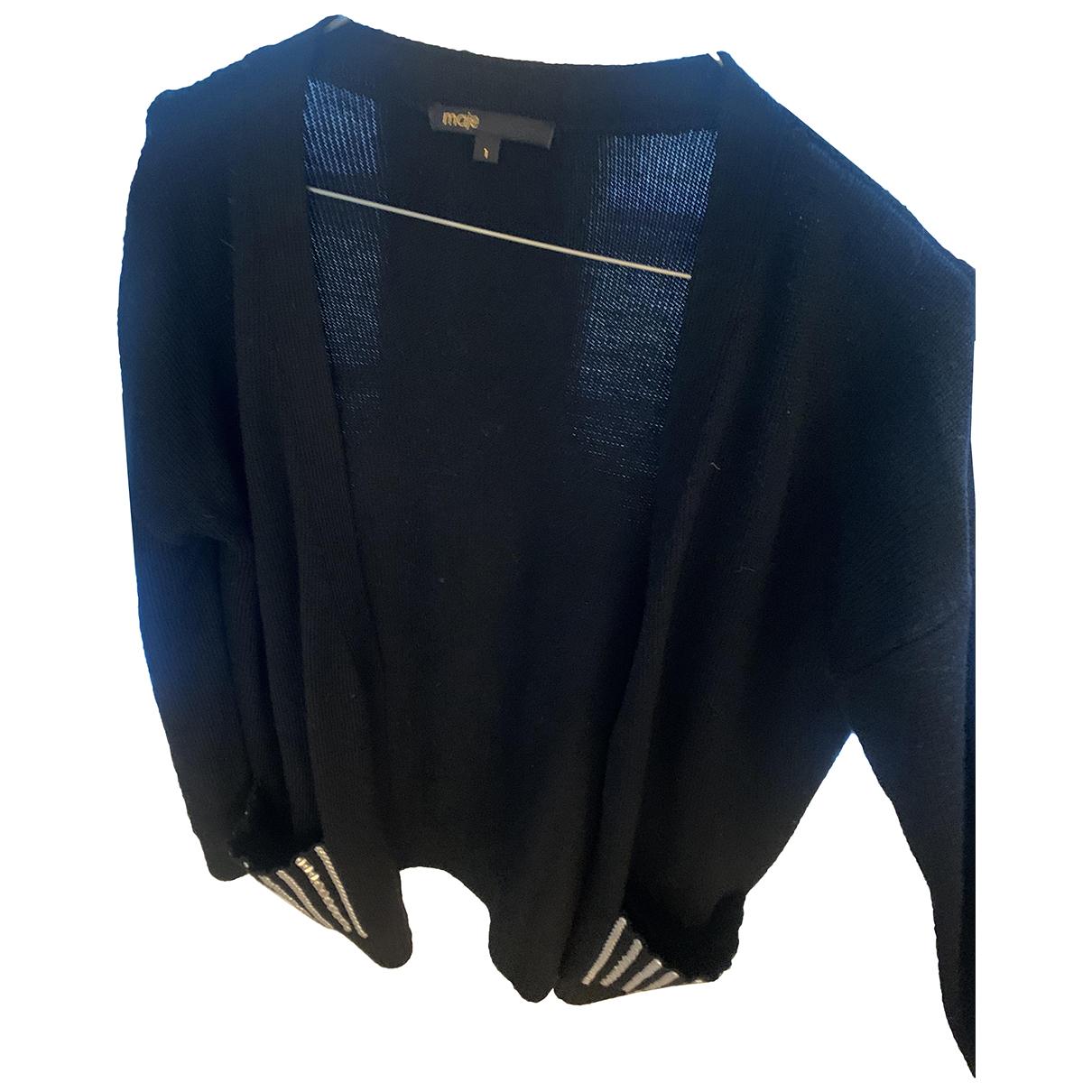 Maje N Black Wool Knitwear for Women 36 FR