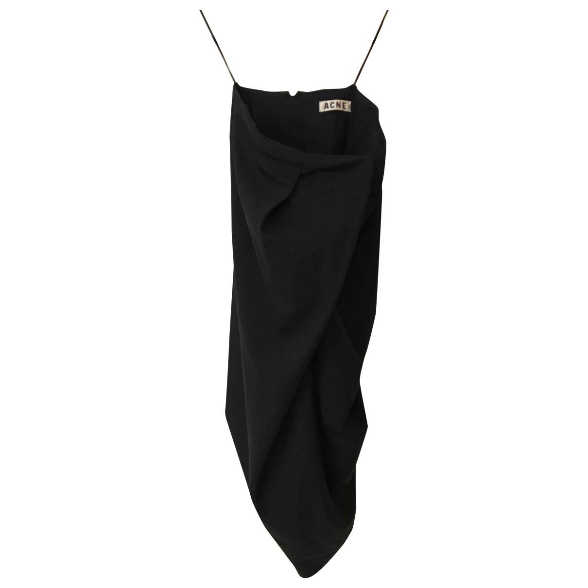 Acne Studios - Robe   pour femme en laine - noir