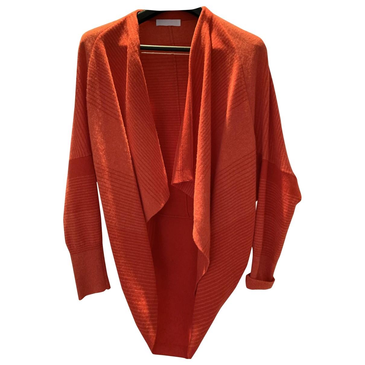 Nicole Farhi - Pull   pour femme en laine - orange