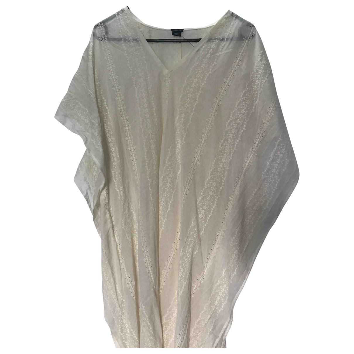 Joseph \N Kleid in  Ecru Baumwolle