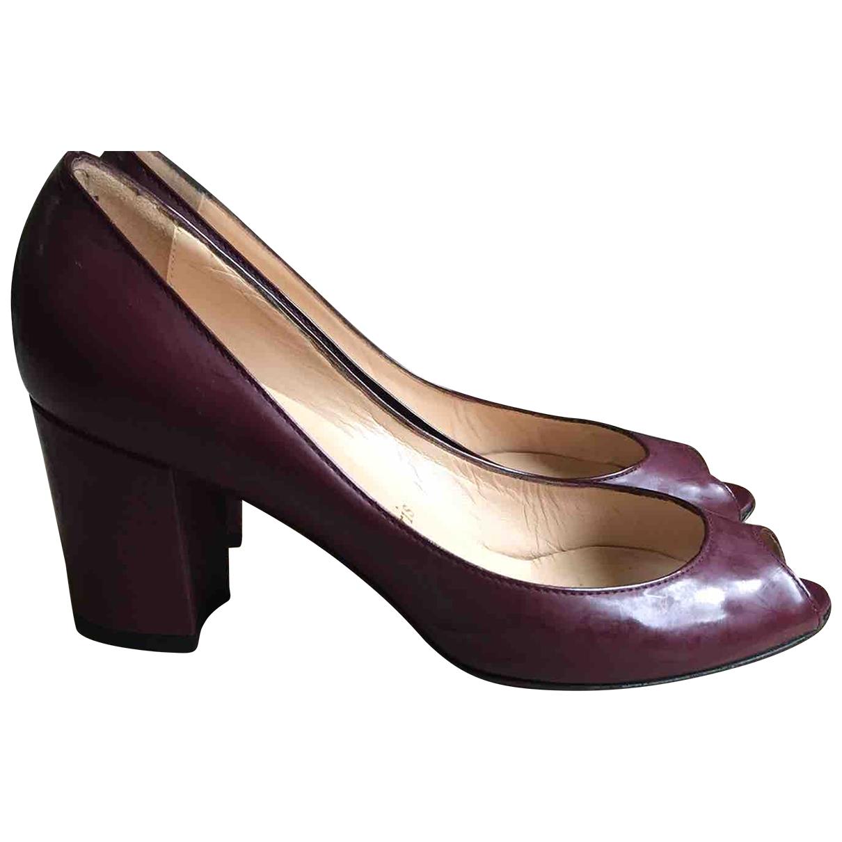 Christian Louboutin \N Burgundy Patent leather Heels for Women 36.5 EU