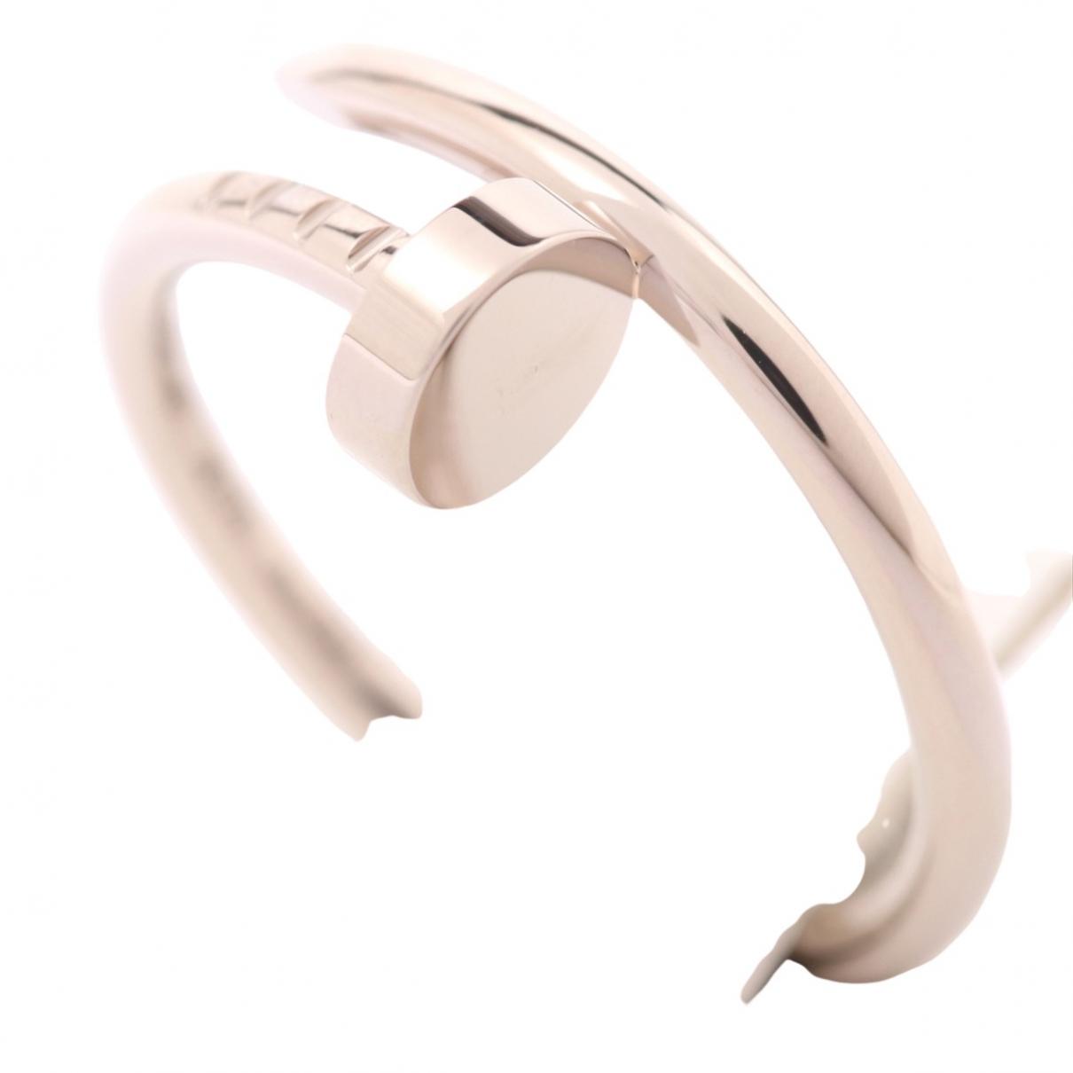 Cartier Juste un Clou Silver White gold ring for Women 51 EU