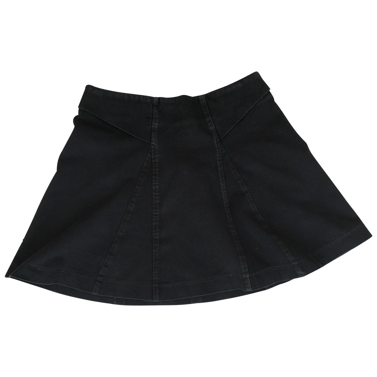 The Kooples - Jupe   pour femme en coton - elasthane - noir