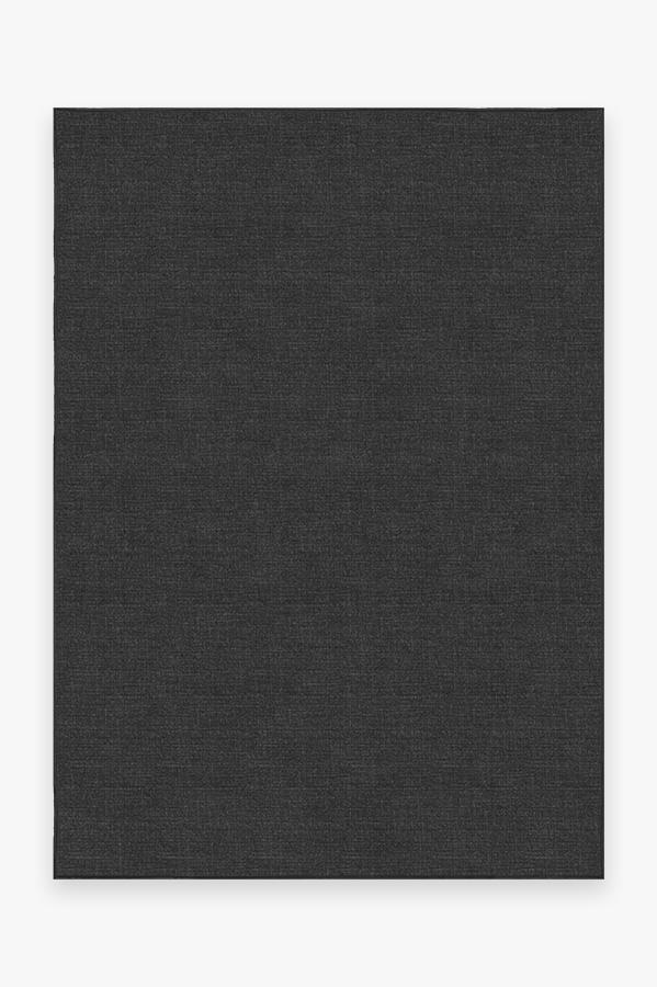 Washable Rug Cover & Pad   Heathered Solid Charcoal Rug   Stain-Resistant   Ruggable   5'x7'