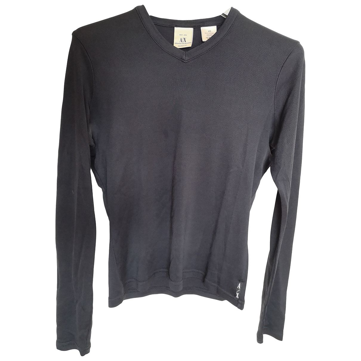 Emporio Armani N Black Silk  top for Women 34 FR