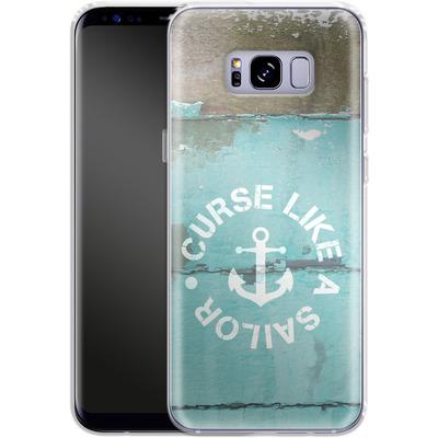 Samsung Galaxy S8 Plus Silikon Handyhuelle - Curse Like A Sailor von Statements