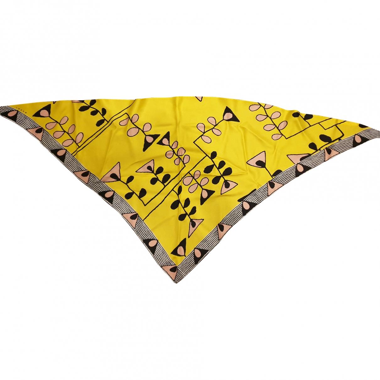 Marni \N Yellow Silk scarf for Women \N