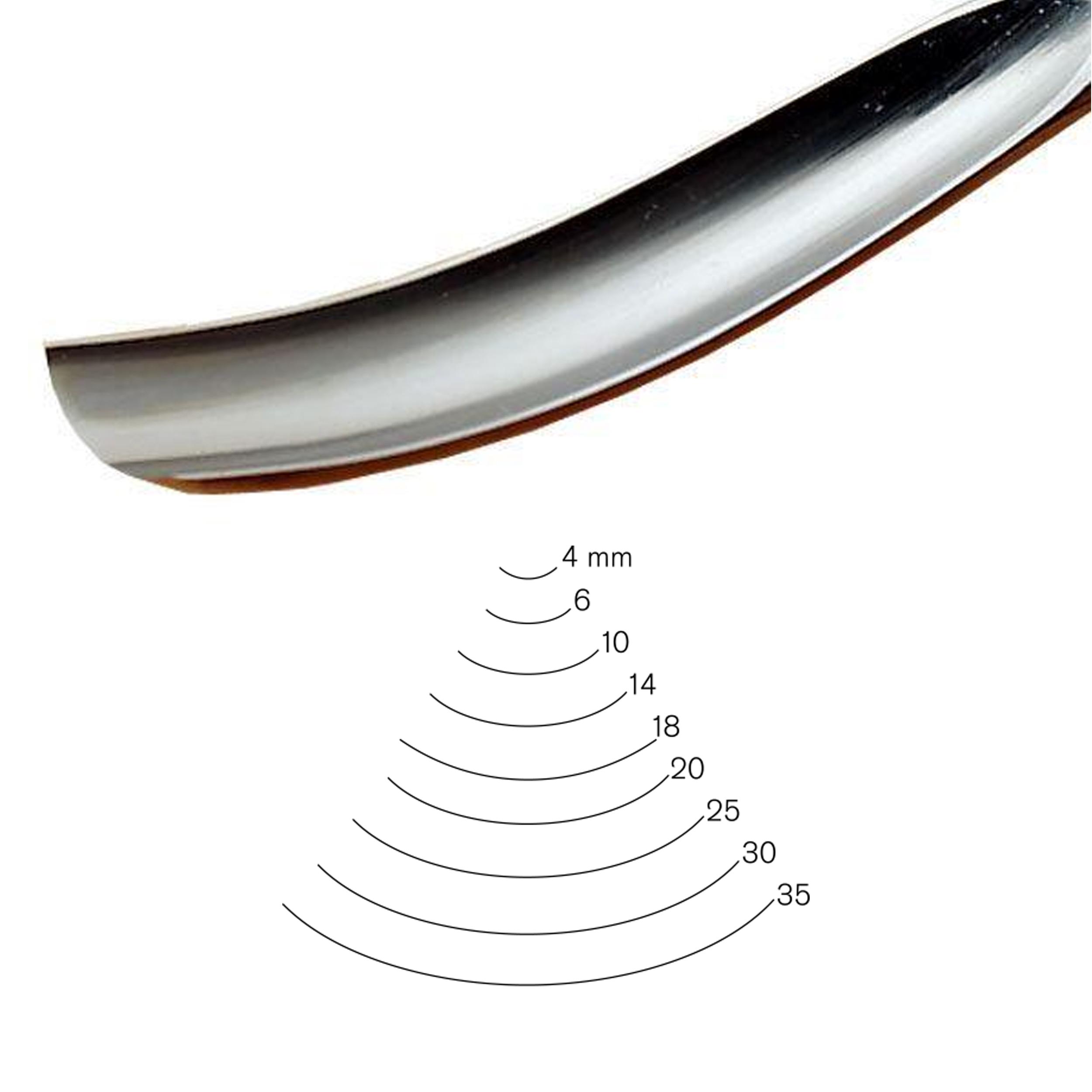 #7 Sweep Bent Gouge 18 mm Full Size