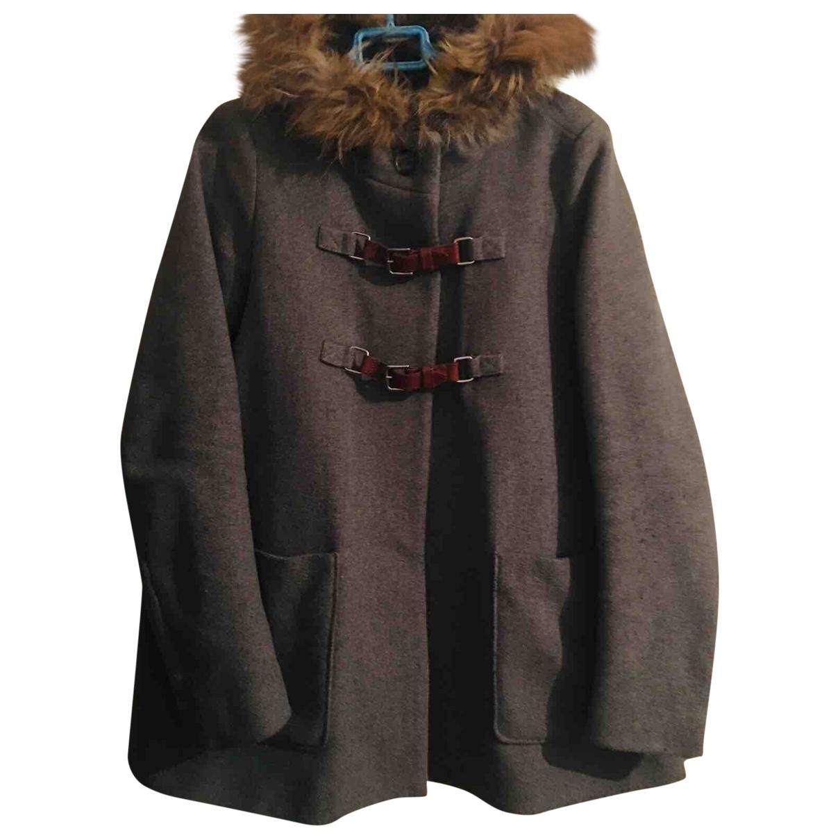 Maje \N Grey Wool coat for Women 40 FR
