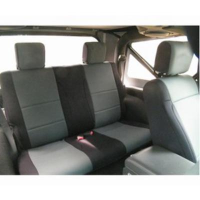 Coverking Neoprene Rear Seat Cover (Black/Charcoal) - SPC208
