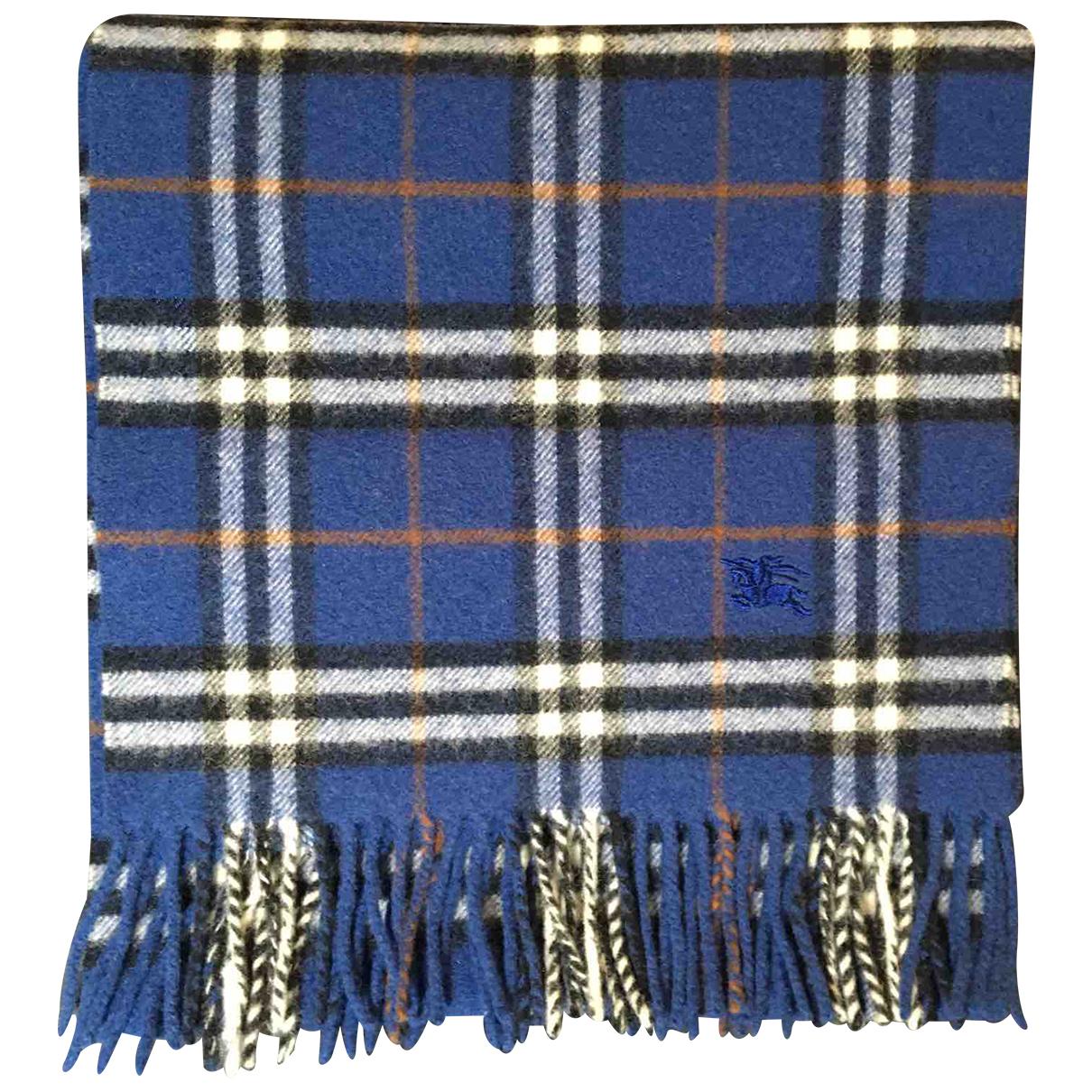 Burberry N Blue Wool scarf & pocket squares for Men N